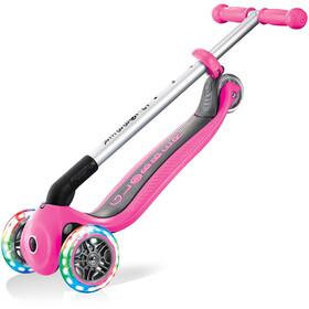 Globber Primo Foldable Lights Roller mit Batterielosen LED Rollen Kinder pink